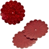 Sequins Hologram 36mm With Hole Flower Red